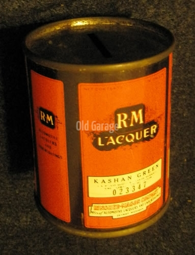 RM Lacquer can bank