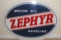 Zephyr gas pump globe Motor Oil Gasoline