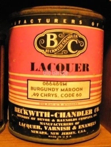 Beckwith Chandler 1949 Lacquer