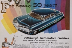 Pittsburgh PPG Auto Paint 50 Years 1952