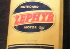 Zephyr Outboard Oil plastic